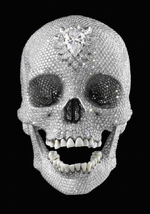 Damien Hirsts diamond studded skull