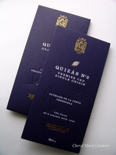 Quizs Grand Cru, Cheryl Marie Cordeiro, Swiss Chocolate with single region cocoa beans