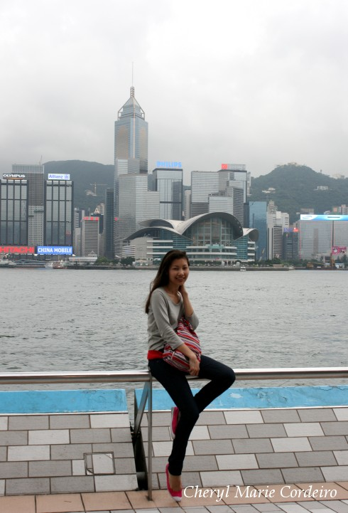 Cheryl Marie Cordeiro at Avenue of Stars, Victoria Harbour, Tsim Sha Tsui, Hong Kong.