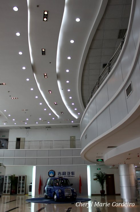 Geely headquarters, hallway.