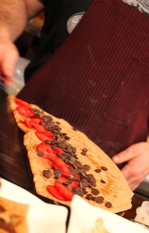 Strawberry and chocolate crep, Creps Barcelona.