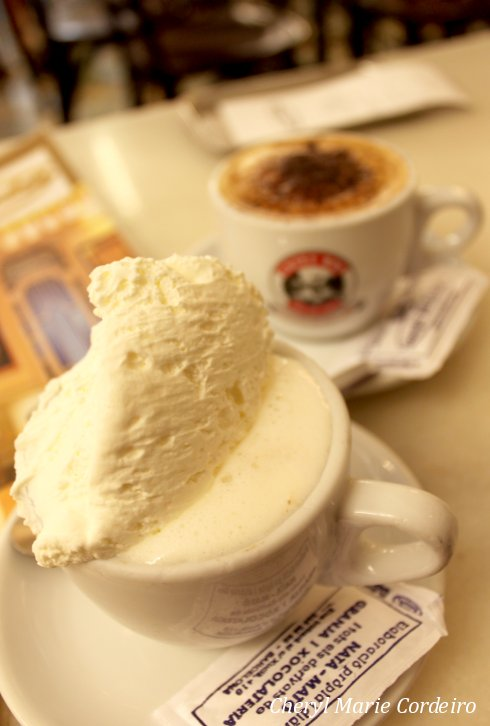 Granja Viader coffee and whipped cream