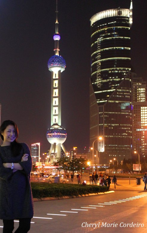 Cheryl Marie Cordeiro at Lujiazui, Shanghai 2011