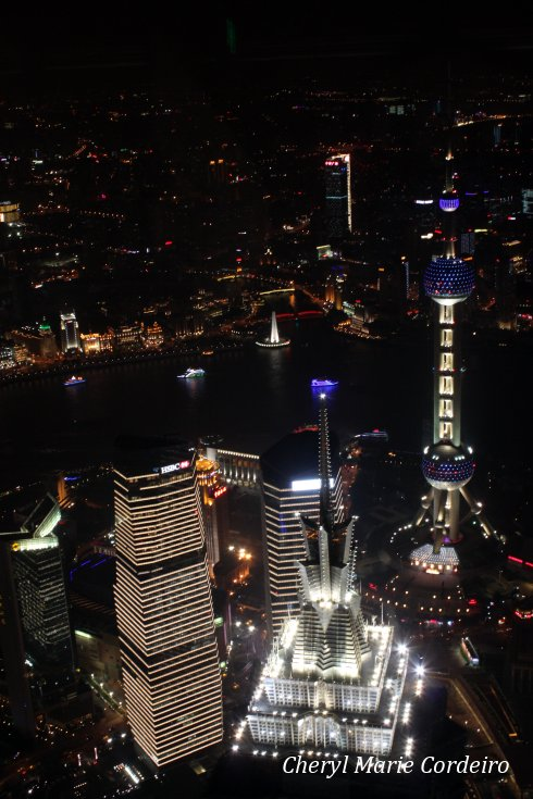 View from the SWFC Observatory, Shanghai World Financial Center.
