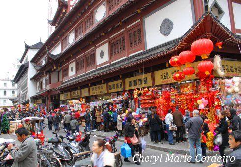 Yuyuan wholesaler's street, Shanghai 2011.