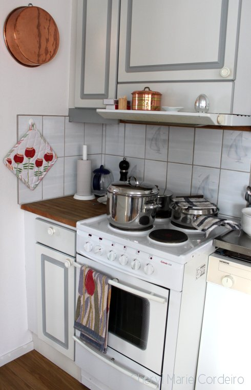 Swedish west coast, kitchen with sail tiles.