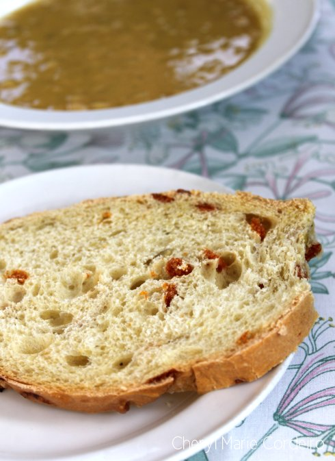 Tomato bread to yellow peasoup, Swedish west coast Sunday Brunch in winter.